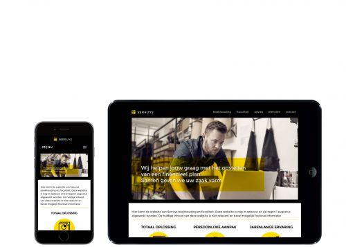 Website voor boekhoudkantoor Serruys op mobiele toestellen.
